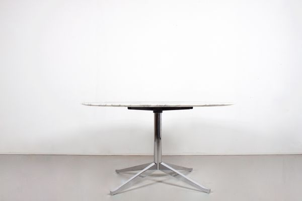 Vintage Round Marble Dining Table By Florence Knoll For International 2