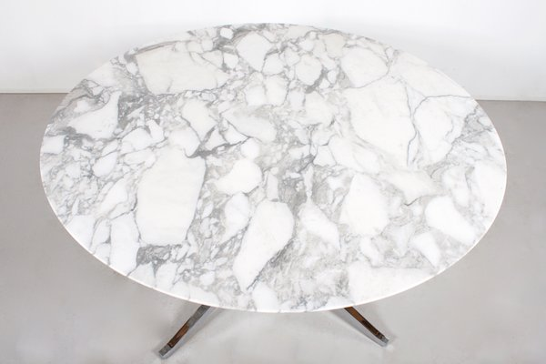 Vintage Round Marble Dining Table By Florence Knoll For International 4