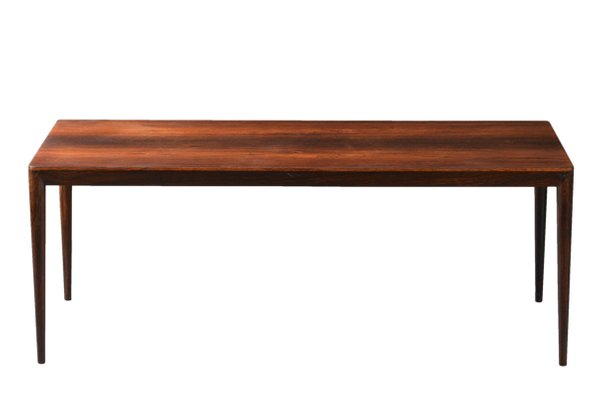 Beau Long Danish Rosewood Coffee Table By Erik Riisager Hansen For Haslev, 1960s  1