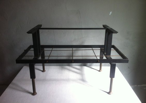 Mid Century Spanish Iron And Marble Coffee Table U0026 Magazine Rack, 1950s 10
