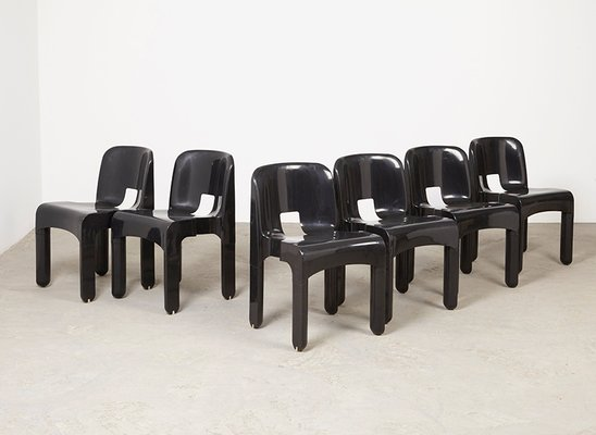vintage universale 4867 chairs by joe colombo for kartell set of 6