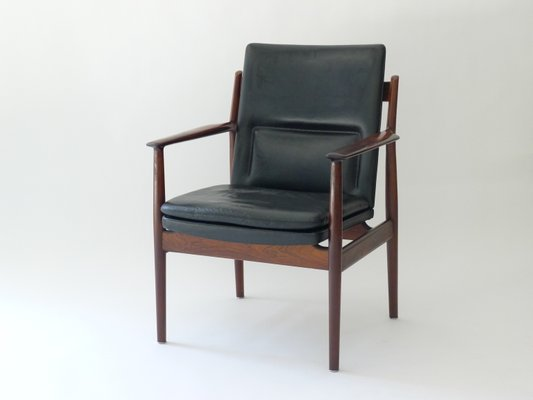 Fauteuil Modèle 341 Vintage En Palissandre Par Arne Vodder Pour Sibast  Møbler 3