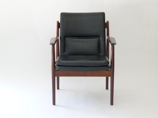 Fauteuil Modèle 341 Vintage En Palissandre Par Arne Vodder Pour Sibast  Møbler 2