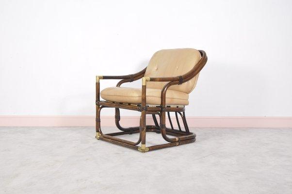 Enjoyable Mid Century Bent Bamboo Tub Chair 1960S Evergreenethics Interior Chair Design Evergreenethicsorg