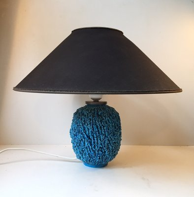 Chamotte Ceramic Turquoise Table Lamp By Gunnar Nylund For Rorstrand