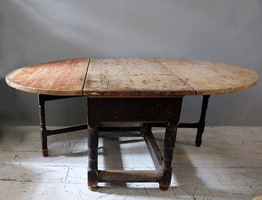 Tavolo Rococò antico allungabile, Svezia in vendita su Pamono