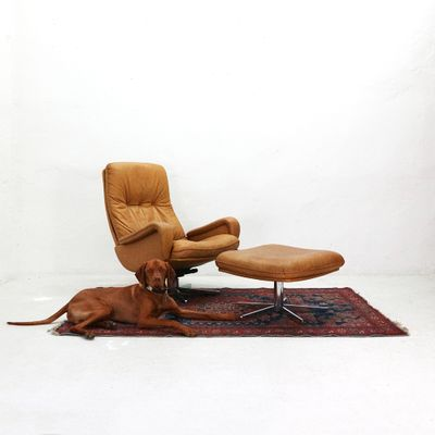ds 50 lounge chair footstool from desede 1960s for sale at pamono