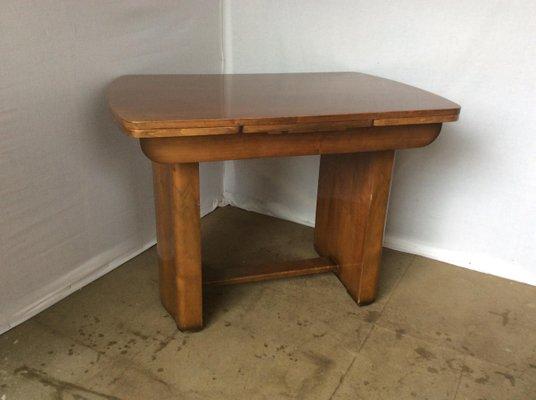 Tavolo da pranzo Art Déco allungabile in legno di noce in vendita su ...