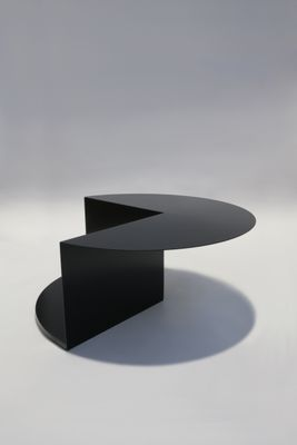 Cantilever Minimalist Coffee Table In Coated Steel By Nina Cho 1