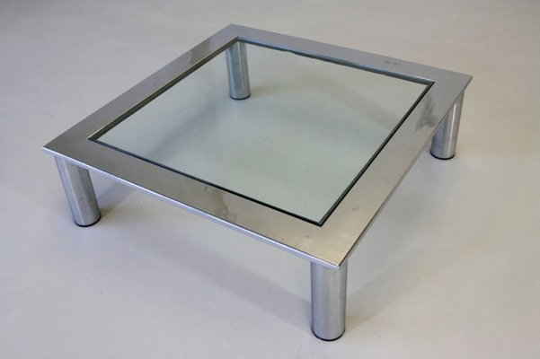 Italian Glass Coffee Table.Vintage Italian Glass Coffee Table 1970s