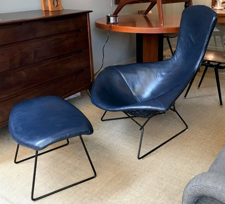Mid Century Bird Chair Ottoman By Harry Bertoia For Knoll For Sale