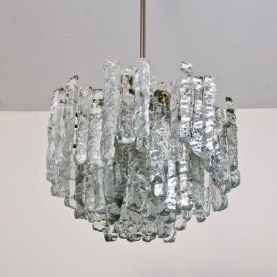 Lampadari Grandi Moderni.Lampadari Grandi Moderni In Vetro Satinato Di J T Kalmar Anni 70 Set Di 2