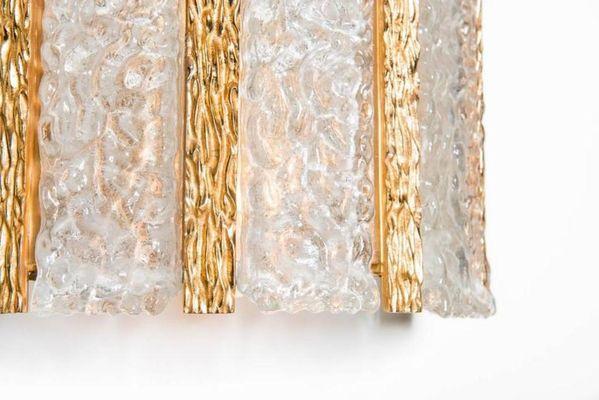Applique da parete placcate in oro di kalmar set di in