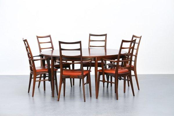 Tavoli E Sedie Vintage.Tavolo E 6 Sedie Vintage In Palissandro Di Niels Koefoed