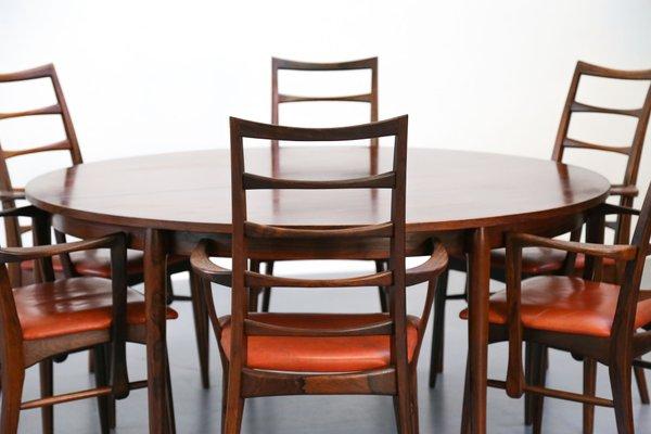 Tavoli E Sedie Vintage.Tavolo E 6 Sedie Vintage In Palissandro Di Niels Koefoed Danimarca