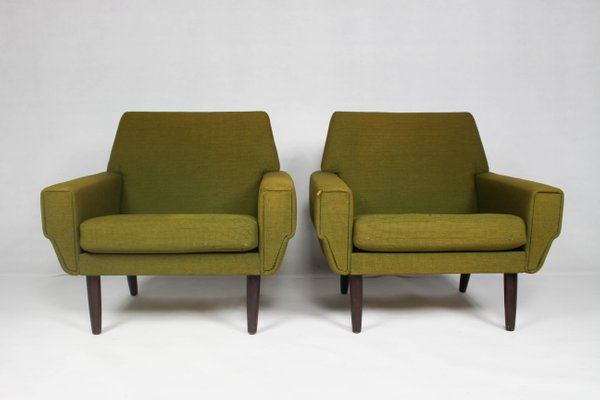 Superbe Mid Century Danish Lounge Chair, Set Of 2 1