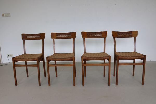 Mid Century Scandinavian Dinner Chairs, Set Of 4 1