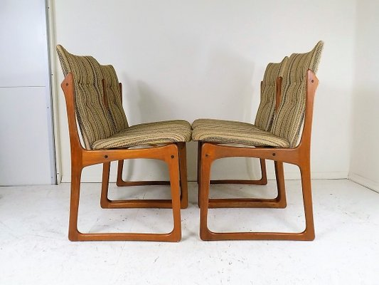 Mid-Century Dining Room Chairs from Vamdrup Stolefabrik, 1960s, Set of 4