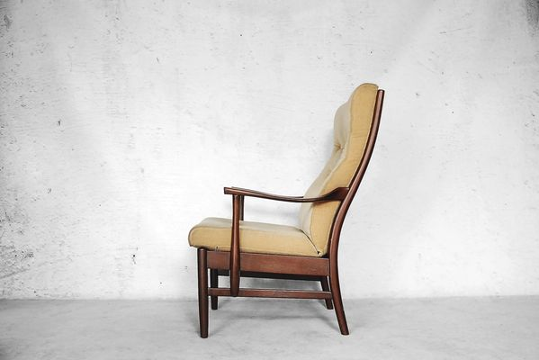 Danish Yellow High Back Chair 1960s For Sale At Pamono