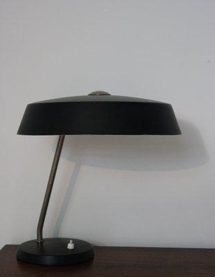 Louis Kalff Lamp.Vintage Black Table Lamp By Louis Kalff For Philips 1960s