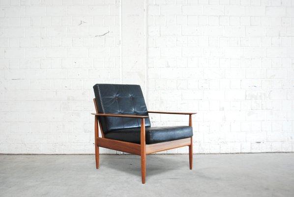 Danish Modern Leather Easy Chair 1960s 1 & Danish Modern Leather Easy Chair 1960s for sale at Pamono