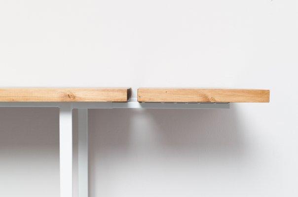 Table Bois Metal Avec Rallonge.Table Eijsden En Bois Recycle Acier Avec Rallonges Par Johanenlies 2017