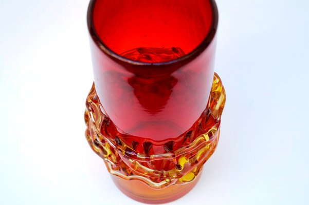 Handmade Polish Glass Vase By Jerzy Suczan Orkusz For Krakow Glass