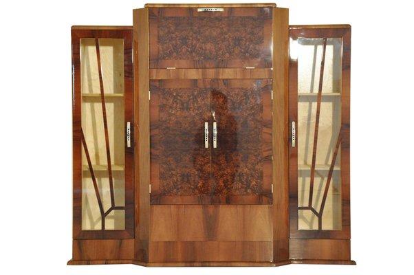 Meuble De Bar Art Deco En Noyer En Vente Sur Pamono