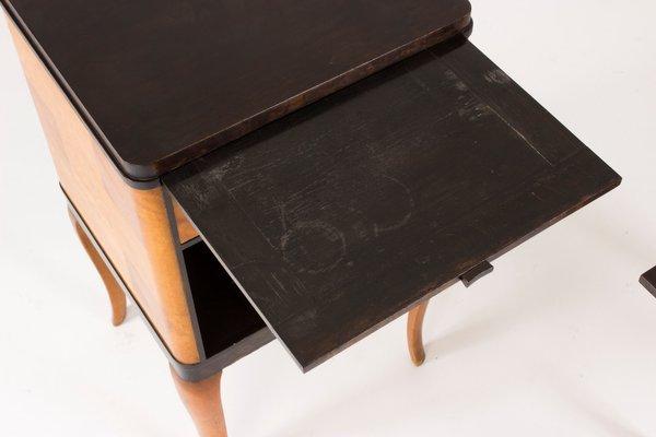 Haga Bedside Tables By Carl Malmsten For Nordiska Kompaniet 1930s Set Of 2