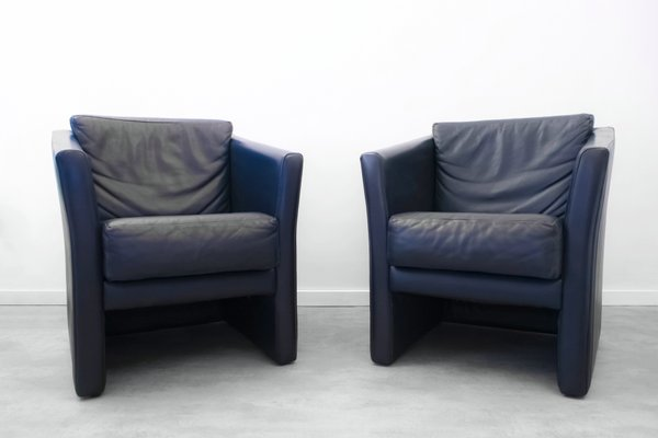 Bon Cube Club Chairs From Molinari, 1980s, Set Of 2 1