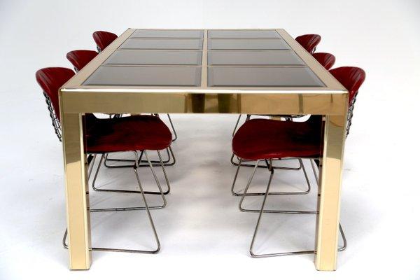 Extensible En Manger Laiton À Mastercraft Table Mid Salle Century De qUSzpVGM