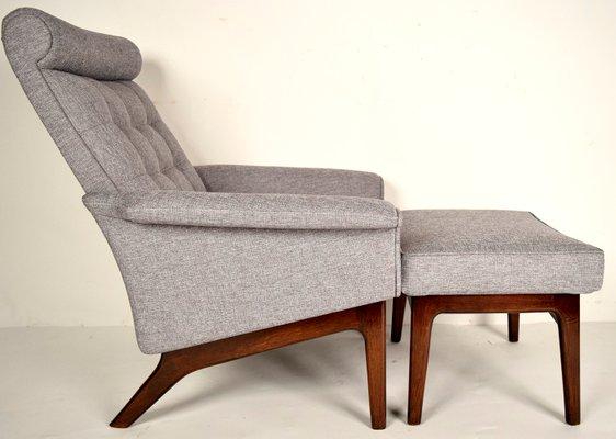 Delicieux Mid Century Danish Lounge Chair U0026 Ottoman By Poul Jensen 2