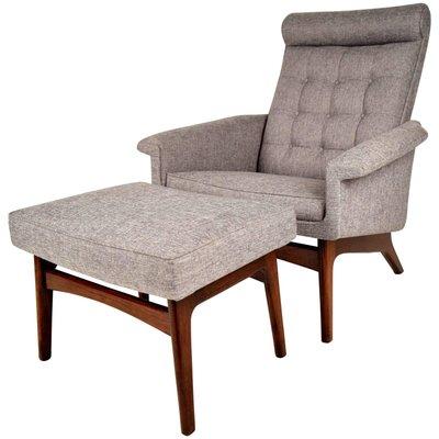 Mid Century Danish Lounge Chair Ottoman By Poul Jensen 1