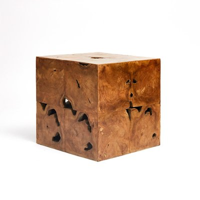 Mid Century Burl Wood Side Table 1960s For Sale At Pamono