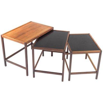 Danish Mid Century Nesting Tables In Rosewood By Kurt Østervig For Jason  Møbler 1