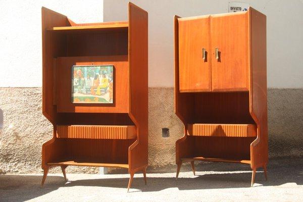Mobili Anni 50 : Mobili bar geometrici germania anni 50 set di 2 in vendita su pamono