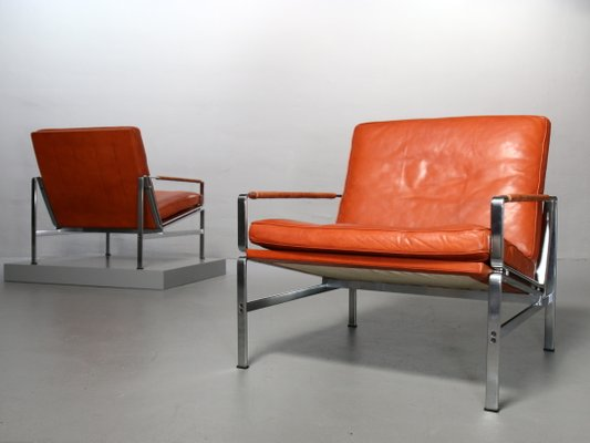 2483e97eeff0 Vintage FK 6720 Lounge Chairs by Preben Fabricius   Jørgen Kastholm for  Kill International