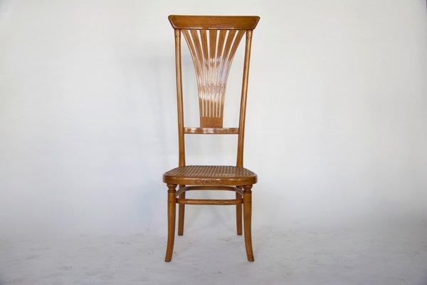 Sedia con schienale alto di Thonet, 1916 in vendita su Pamono