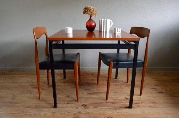 Mid Century Modern Table By Marcel Gascoin For Alvéole 2