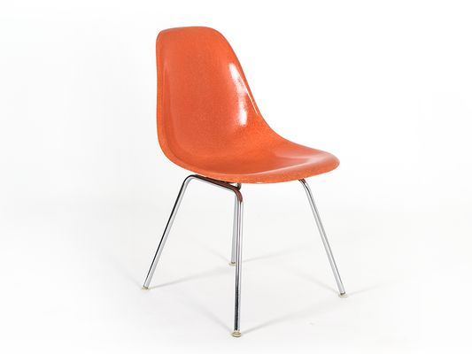 vintage dsx fiberglass chairs by charles ray eames for herman