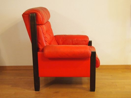 Vintage Red Leather Armchair From De Sede For Sale At Pamono