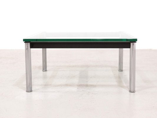 LC10 Glass Table By Le Corbusier For Cassina, 1980s 1