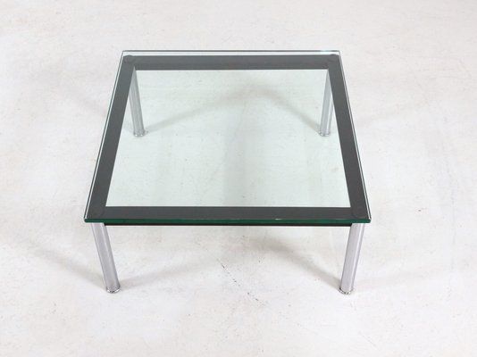 LC10 Glass Table By Le Corbusier For Cassina, 1980s 2
