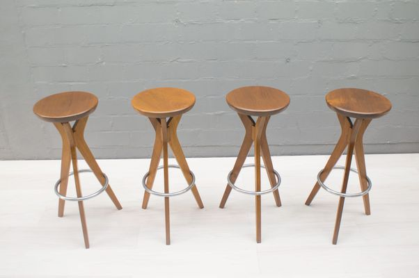 danish teak bar stools from p j Ø 1960s set of 4 for sale at pamono