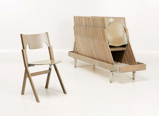 scandinavian modern folding chairs by ake axelsson set of 24 for