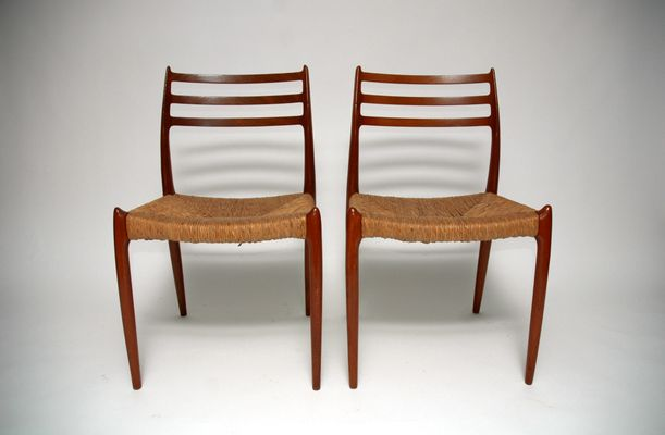 Fabulous Mid Century Model 78 Dining Chairs By Niels O Moller For J L Mollers Set Of 4 Theyellowbook Wood Chair Design Ideas Theyellowbookinfo