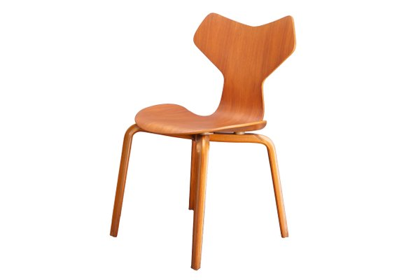 Teak Grand Prix Chair By Arne Jacobsen For Fritz Hansen, 1960s 1