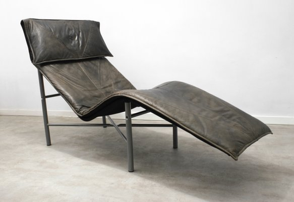 Brown Leather Skye Chaise Lounge By Tord Björklund For Ikea 1980s 1