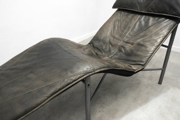 Brown Leather Skye Chaise Lounge By Tord Björklund For Ikea 1980s 6