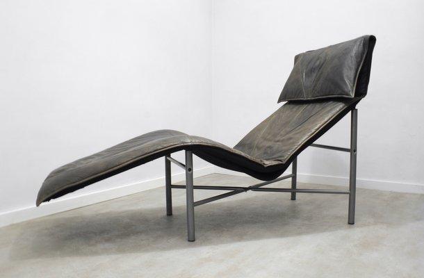 chaise longue skye en cuir marron par tord bjrklund pour ikea 1980s 2 - Chaise Longue Cuir